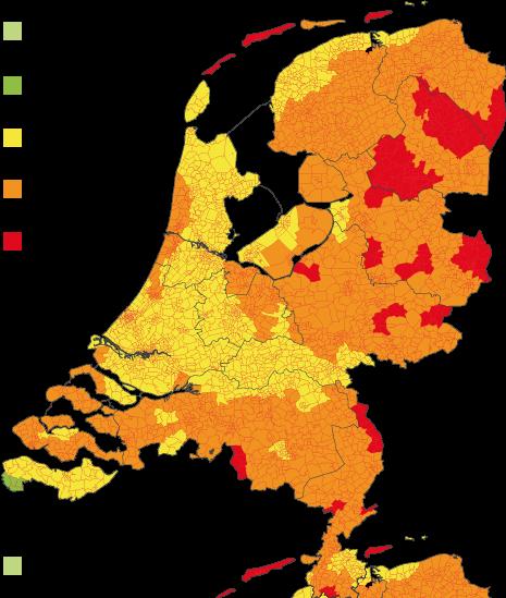 Teken concentratie Nederland